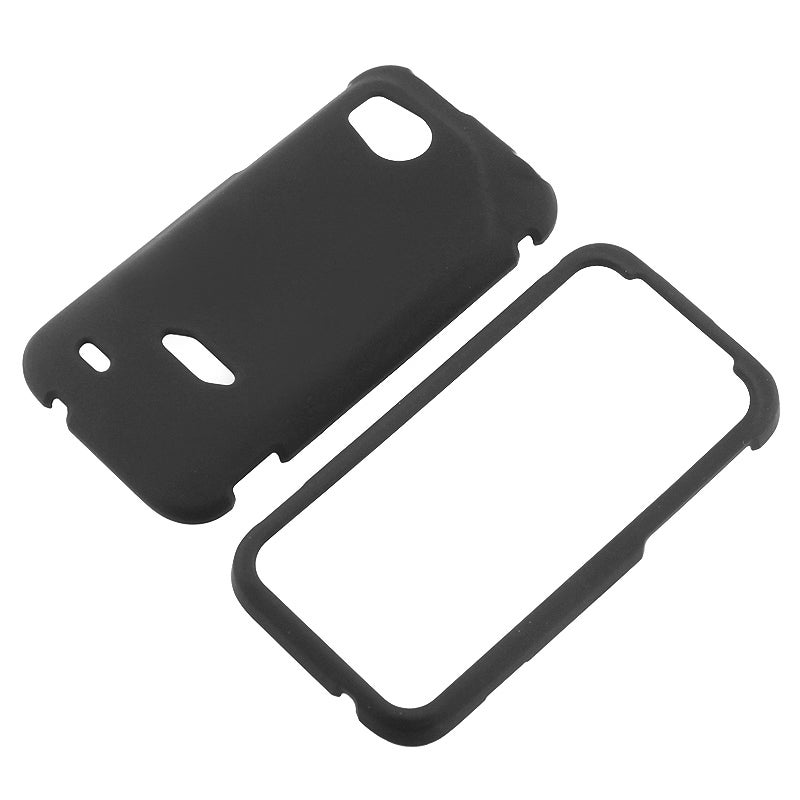 Black Snap-on Rubber Coated Case for HTC Vigor