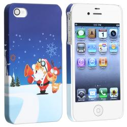 Santa Claus Snap-on Rubber Coated Case for Apple iPhone 4/ 4S