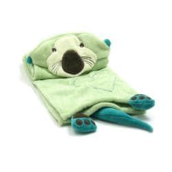 Piccolo Bambino Green Otter Hooded Cuddle Blanket