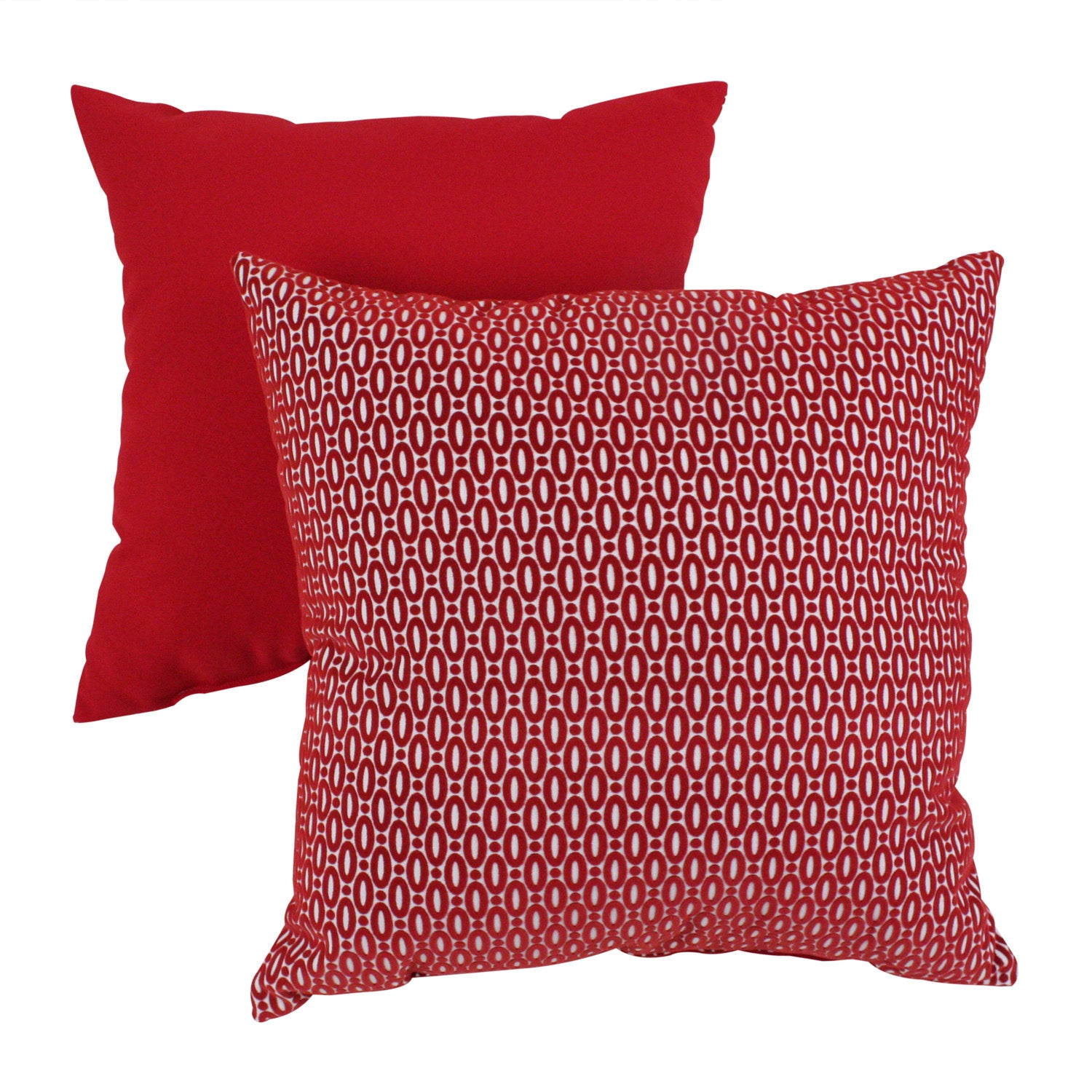 Pillow Perfect 'Oval Dots' Red Throw Pillow