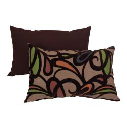 Pillow Perfect Contemporary Floral Flocked Pillow