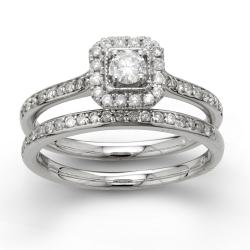 10k White Gold 1/2ct TDW Diamond Bridal Ring Set (H-I, I2-I3)