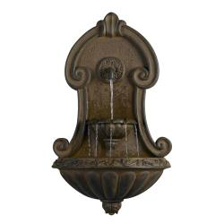 Muro Elegante Copper Finish Wall Water Fountain