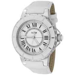 a_line Women's 'Marina' White Leather Watch