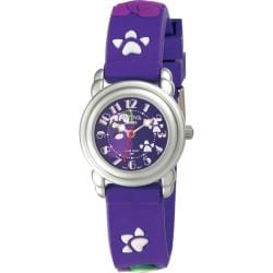 Activa Juniors Navy Blue Rubber With Multicolor Cartoon Design Watch