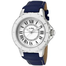a_line Women's 'Marina' Blue Leather Watch