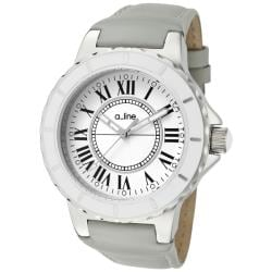 a_line Women's 'Marina' Grey Leather Watch