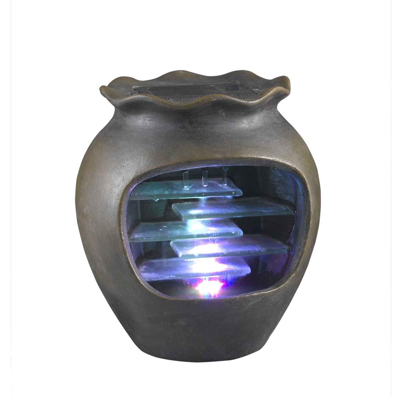 Harmonia Tabletop Pot Water Fountain with Led Light