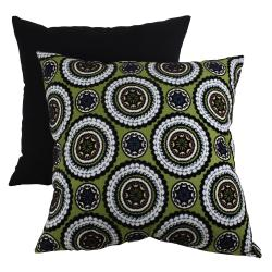 Pillow Perfect Green Medallions Decorative Pillow