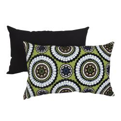 Pillow Perfect Green Medallions Throw Pillow