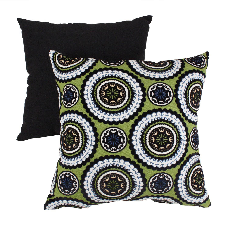 Pillow Perfect Green Medallions Throw Pillow