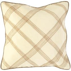 Cream 18-inch Down Decorative Pillow