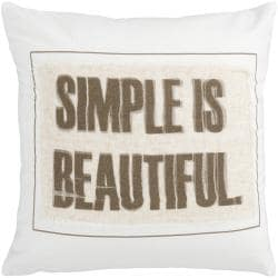 Stomp 18-inch Poly Decorative Pillow