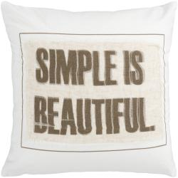 Stomp 18-inch Down Decorative Pillow