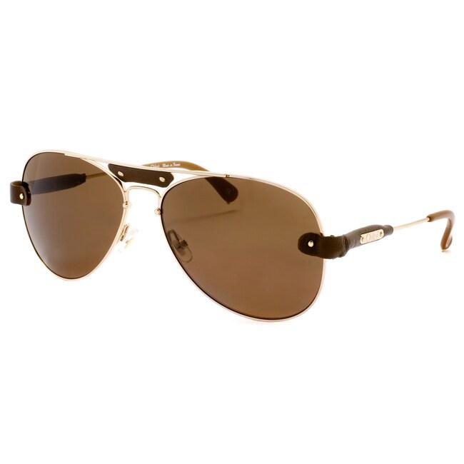 Chloe Unisex 'Tamaris' Light Rose Gold Aviator Sunglasses