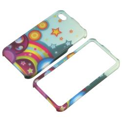 Star Rainbow Snap-on Rubber Coated Case for Apple iPhone 4