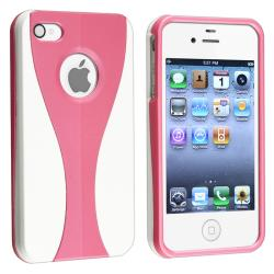 Pink/ White Cup Shape Snap-on Case for Apple iPhone 4/ 4S