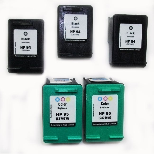 HP 94/95 Black/TriColor Ink Cartridges (Remanufactured) (Pack of 5)