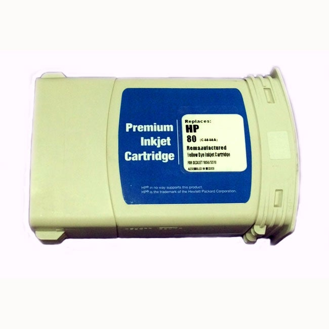 HP 80 Yellow Ink Tank (Remanufactured)