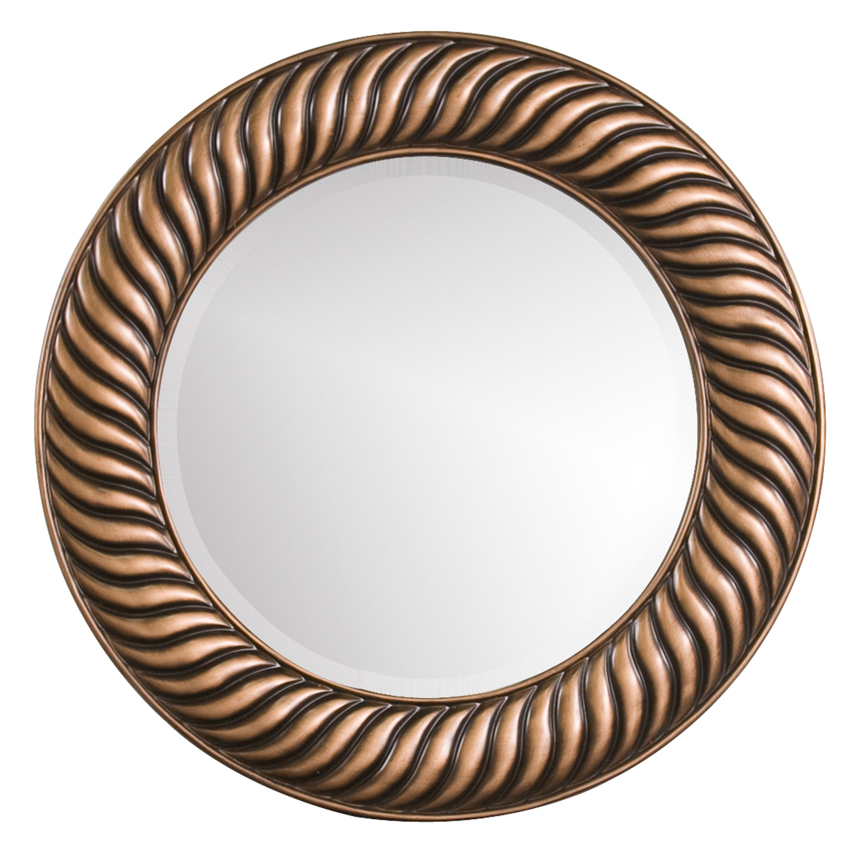 Mason Antique Copper Resin Round Mirror