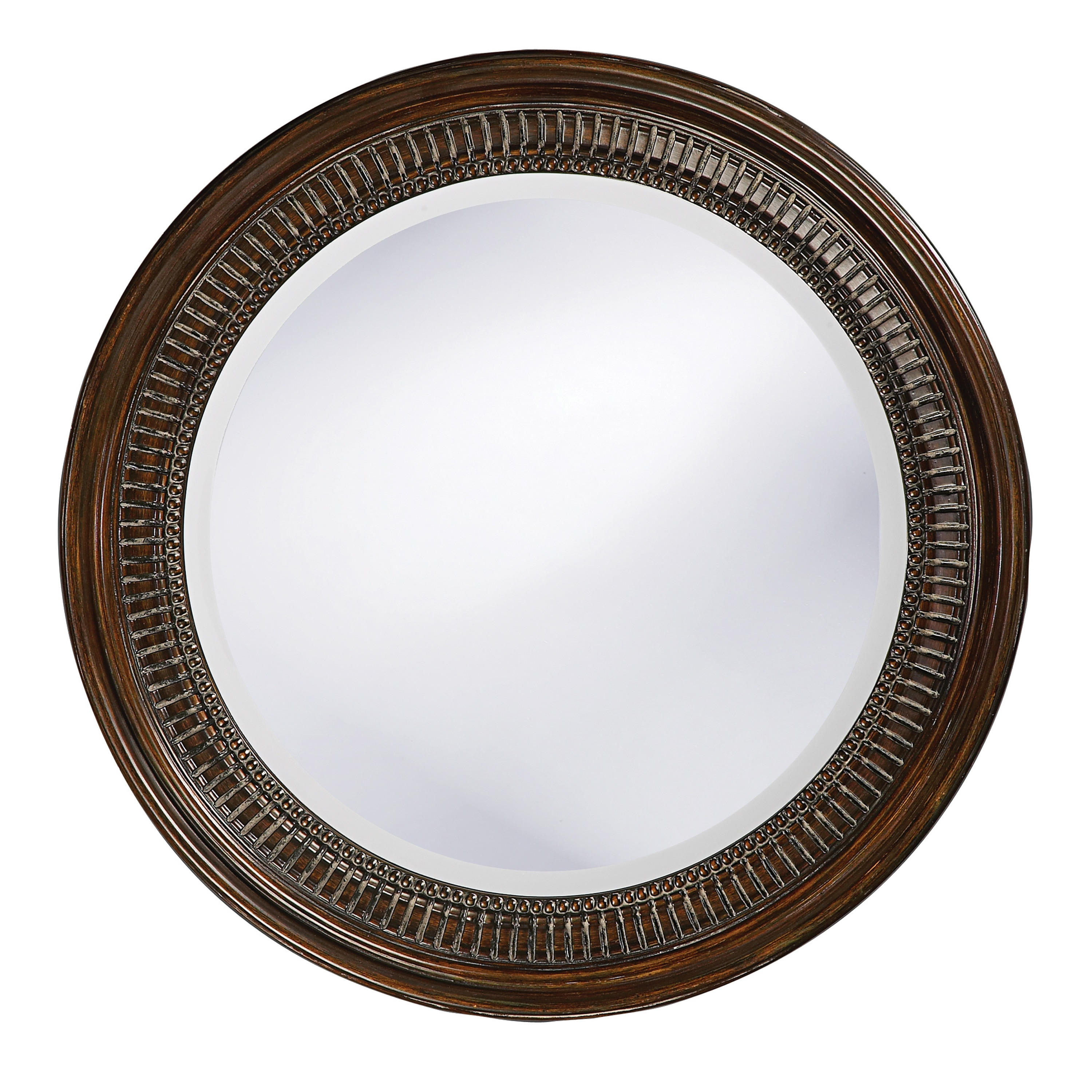 Wales Bronze Resin Ribbed Mirror