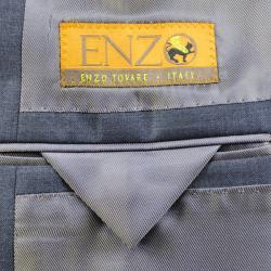 Men's Charcoal Grey Wool Suit