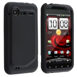 Black Silicone Skin Case for HTC Droid Incredible 2