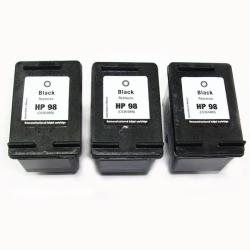 HP 98 Black Ink Cartridge (Remanufactured) (Pack of 3)