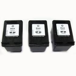 HP 94 Black Ink Cartridge (Remanufactured) (Pack of 3)