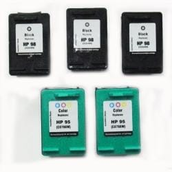HP 98/95 Black/TriColor (Remanufactured) (Pack of 5)