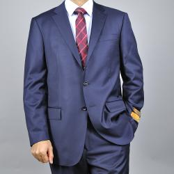 Men's Navy Blue Wool Suit