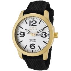 Invicta Men's 'Specialty' Black Nylon Watch