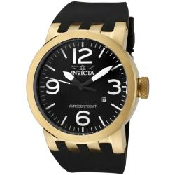 Invicta Men's 'Force' Black Polyurethane Watch