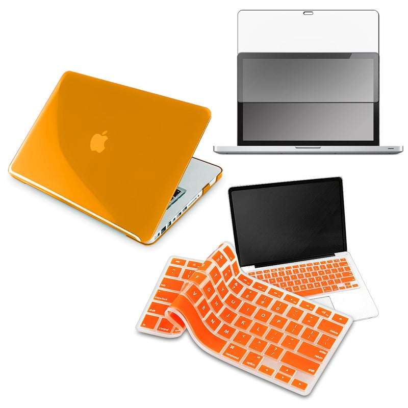Orange Case/ LCD Protector/ Keyboard Shield for Apple MacBook Pro