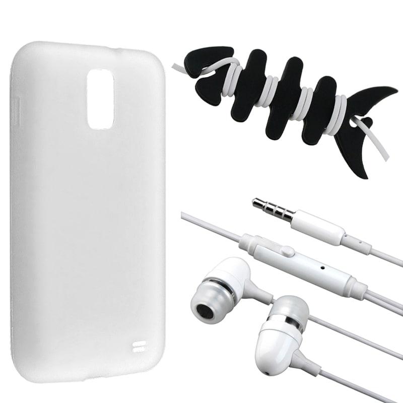 White Case/ Headset/ Wrap for Samsung Galaxy S2 Skyrocket i727