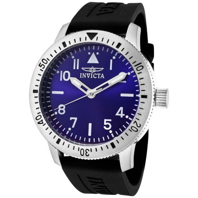Invicta Men's 'Specialty' Black Polyurethane Watch