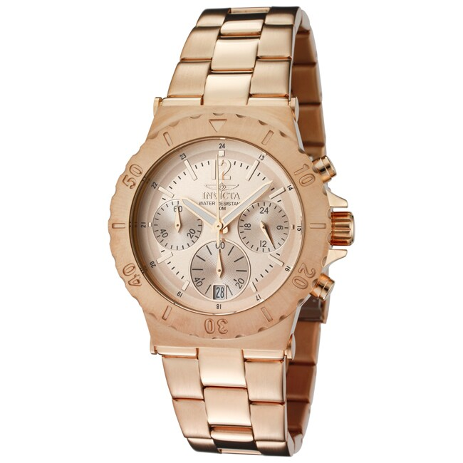 Invicta Women's 'Specialty' 18k Rose Goldplated Stainless Steel Watch