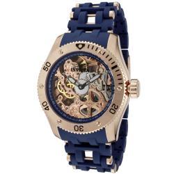 Invicta Men's 'Sea Spider' 18k Rose Goldplated & Blue Polyurethane Watch