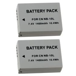 Compatible Li-Ion Battery for Canon NB-10L (Pack of 2)