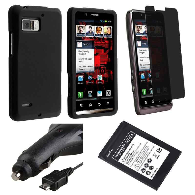 Battery/ Case/ Screen Protector/ Car Charger for Motorola XT875 Droid