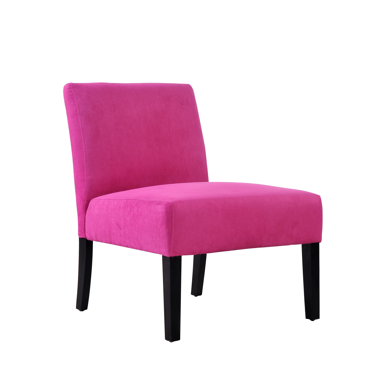 Portfolio Niles Magenta Microfiber Armless Accent Chair