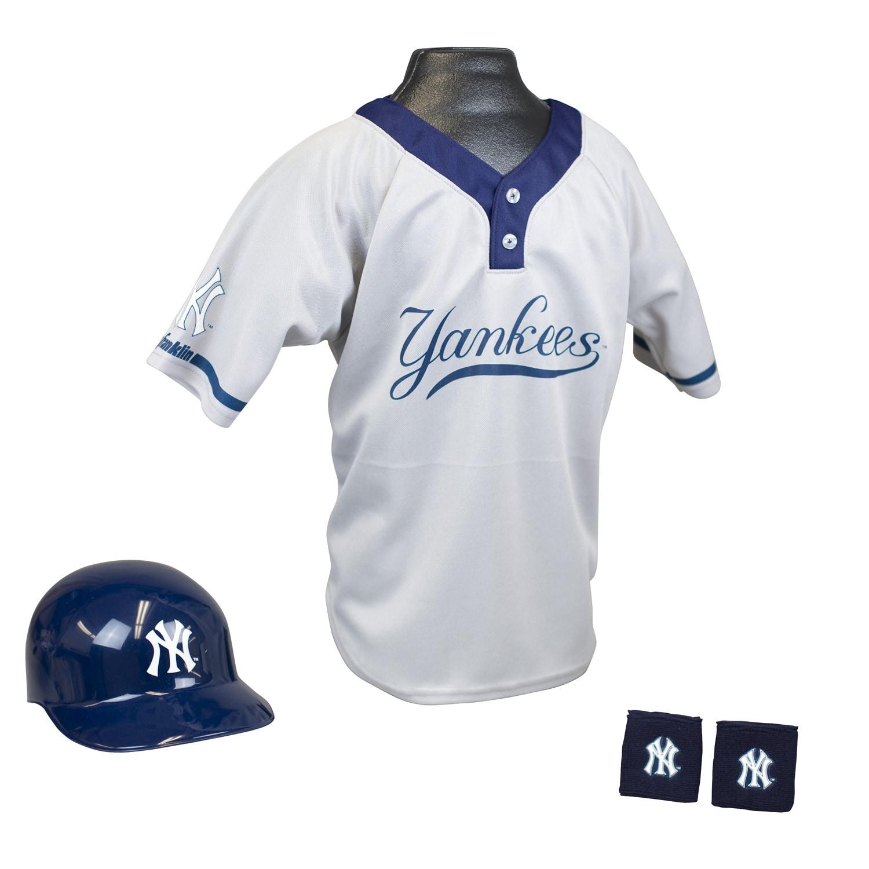 Franklin Sports Kids' Blue/White Polyester MLB Yankees Team Set