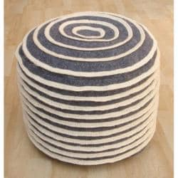 nuLOOM Handmade Casual Living Indian Cinabun Pouf