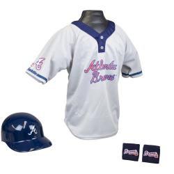 Franklin Sports Kids MLB Atlanta Braves Team Uniform Set