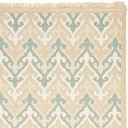 Sumak Flatweave Heirloom Beige Wool Rug (9 x 12)