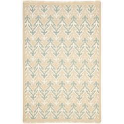 Sumak Flatweave Heirloom Beige Wool Rug (8 x 10)