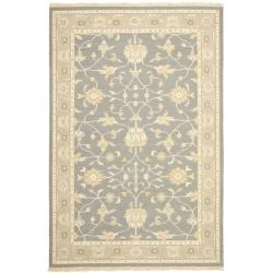 Sumak Flatweave Heirloom Grey Wool Rug (4 x 6)