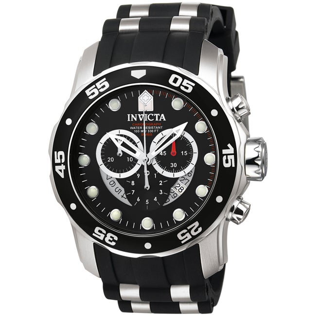 Invicta Men's 'Pro Diver' Black Strap Watch
