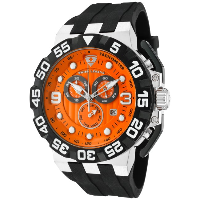 Swiss Legend Men's 'Challenger' Black Silicon Watch