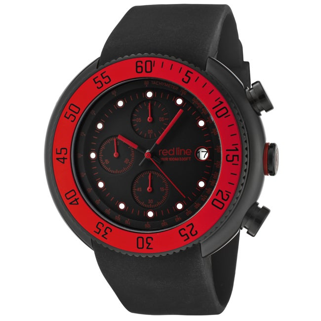 Red Line Men's 'Driver' Black Chronograph Watch - 14042602 ... - photo #39